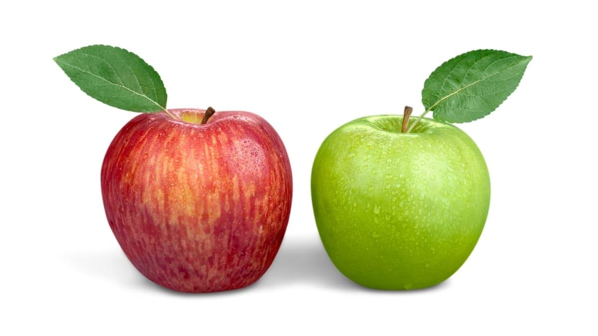 Manzana Roja Y Verdes
